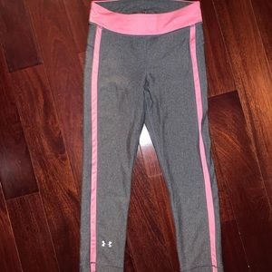 Under Armour Women's Pink & Gray leggings